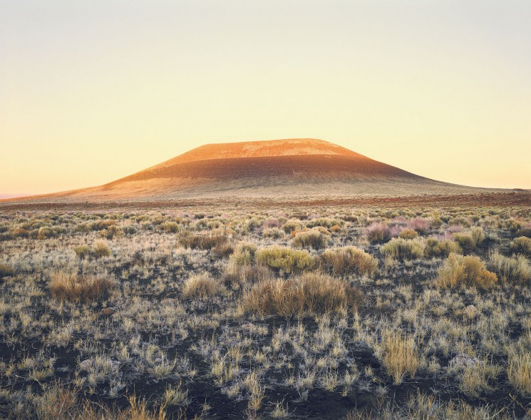 photo of Roden Crater at sunset