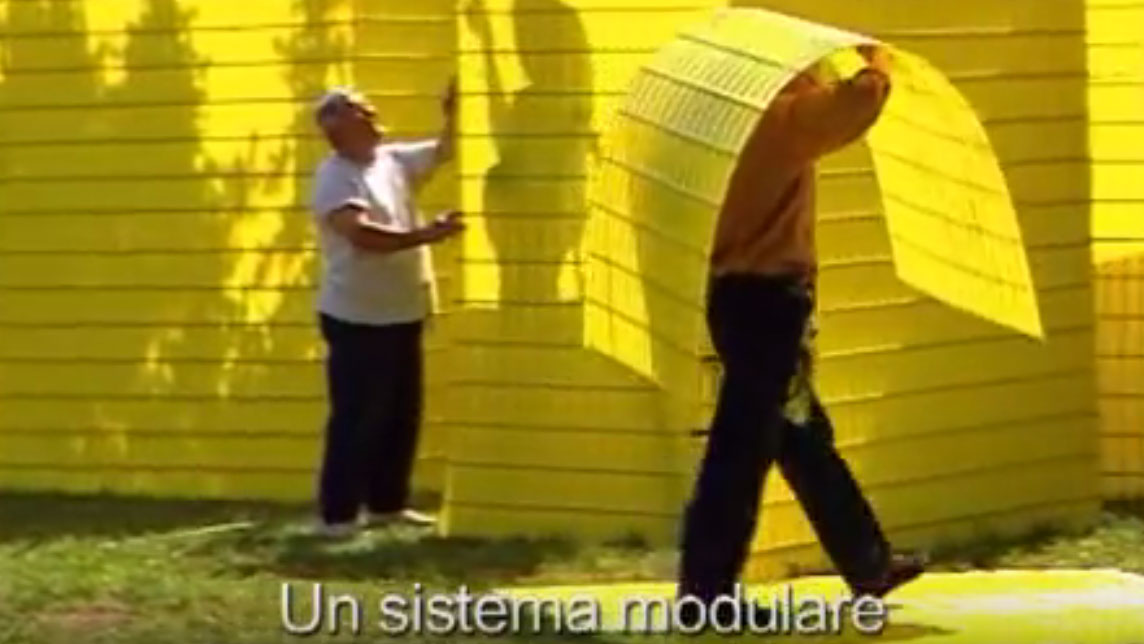 video still of Manin City - an art building project by Michael Buetler