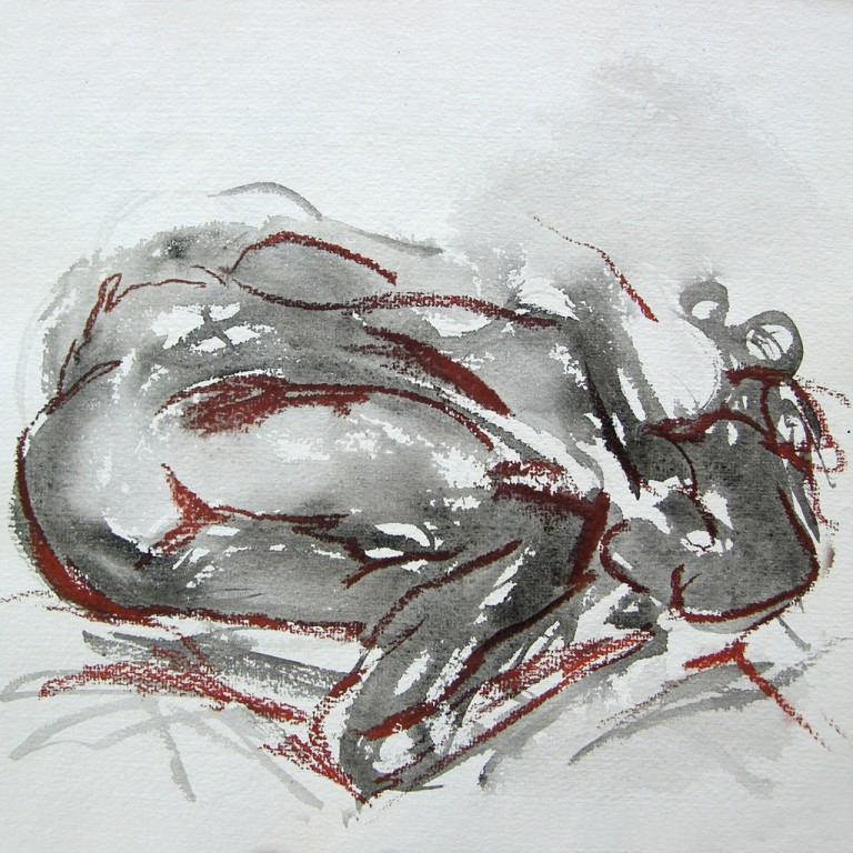 Nude on watercolour paper #5 - 27 x 26cm, 2008