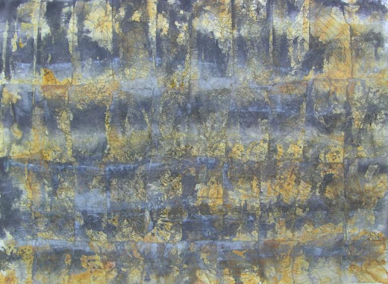'Mesa VII', ink on tissue paper on paper, 30 x 20cm, 1994