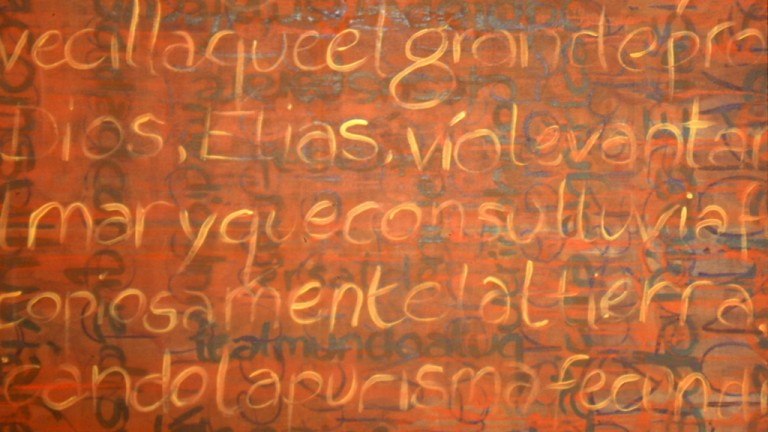 'Oracion', oil on canvas, 183 x 183cm, 1995