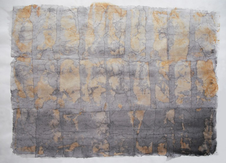 'Mesa X', ink layers & sunlight on tissue paper, 20 x 17cm, 1994