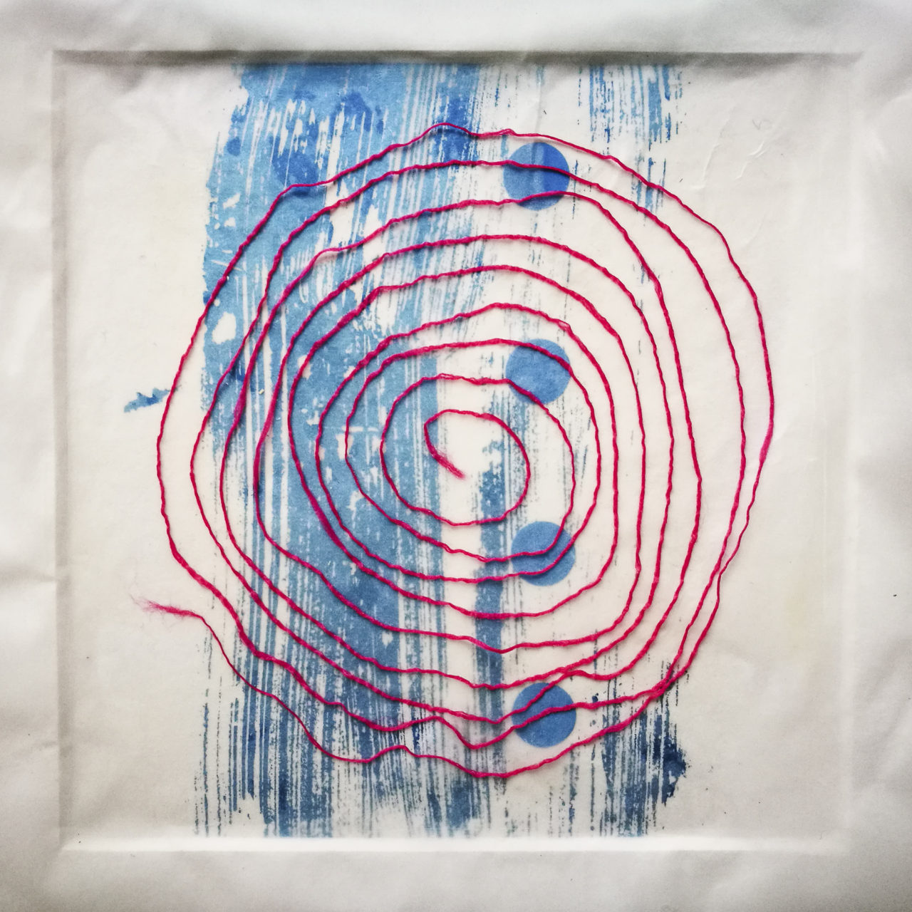 Blue dot Spiral artwork by Michelle Rumney from the St Thomas Way Swansea to Hereford 2018Blue dot Spiral artwork by Michelle Rumney from the St Thomas Way Swansea to Hereford 2018
