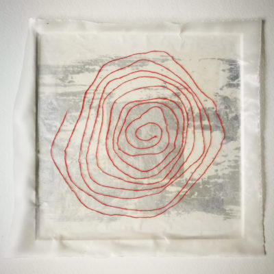 Red Spiral artwork by Michelle Rumney from the St Thomas Way Swansea to Hereford 2018