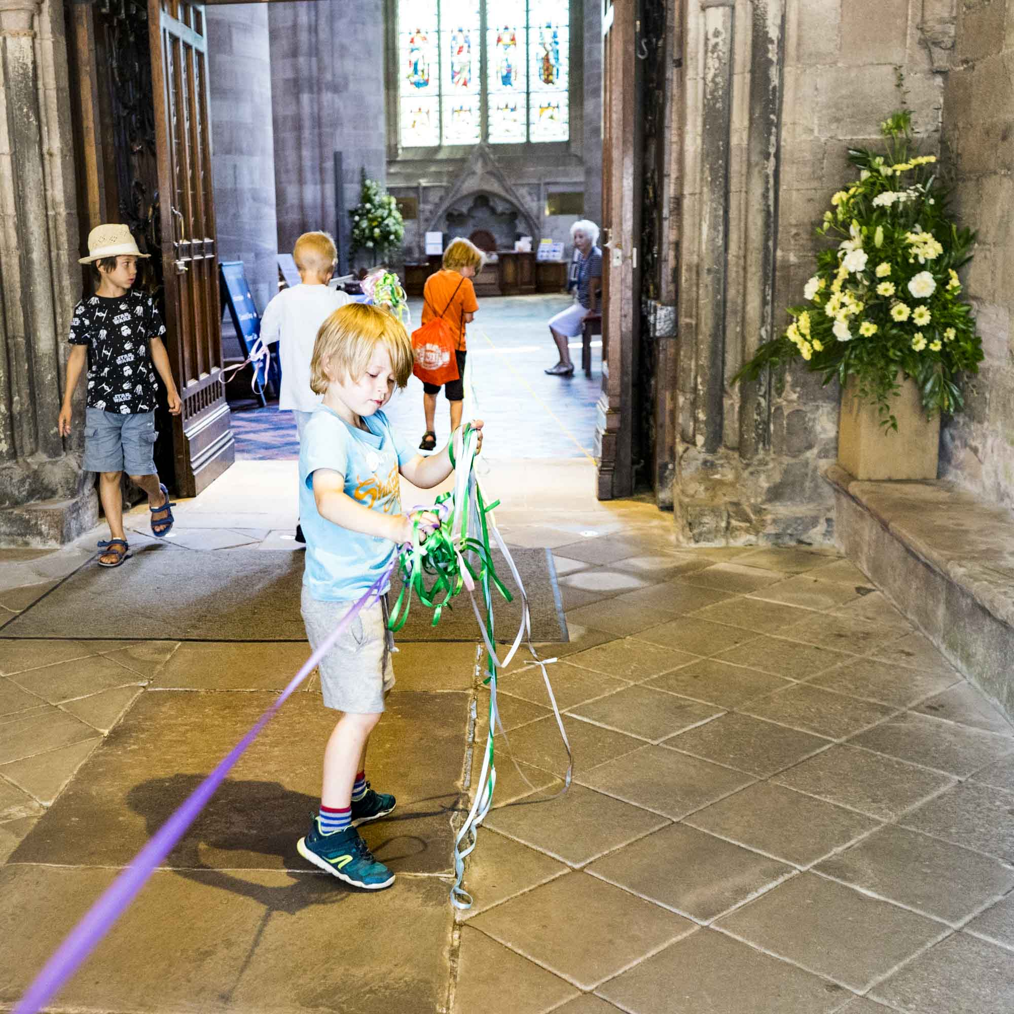 Medieval measuring workshop at Hereford Cathedral