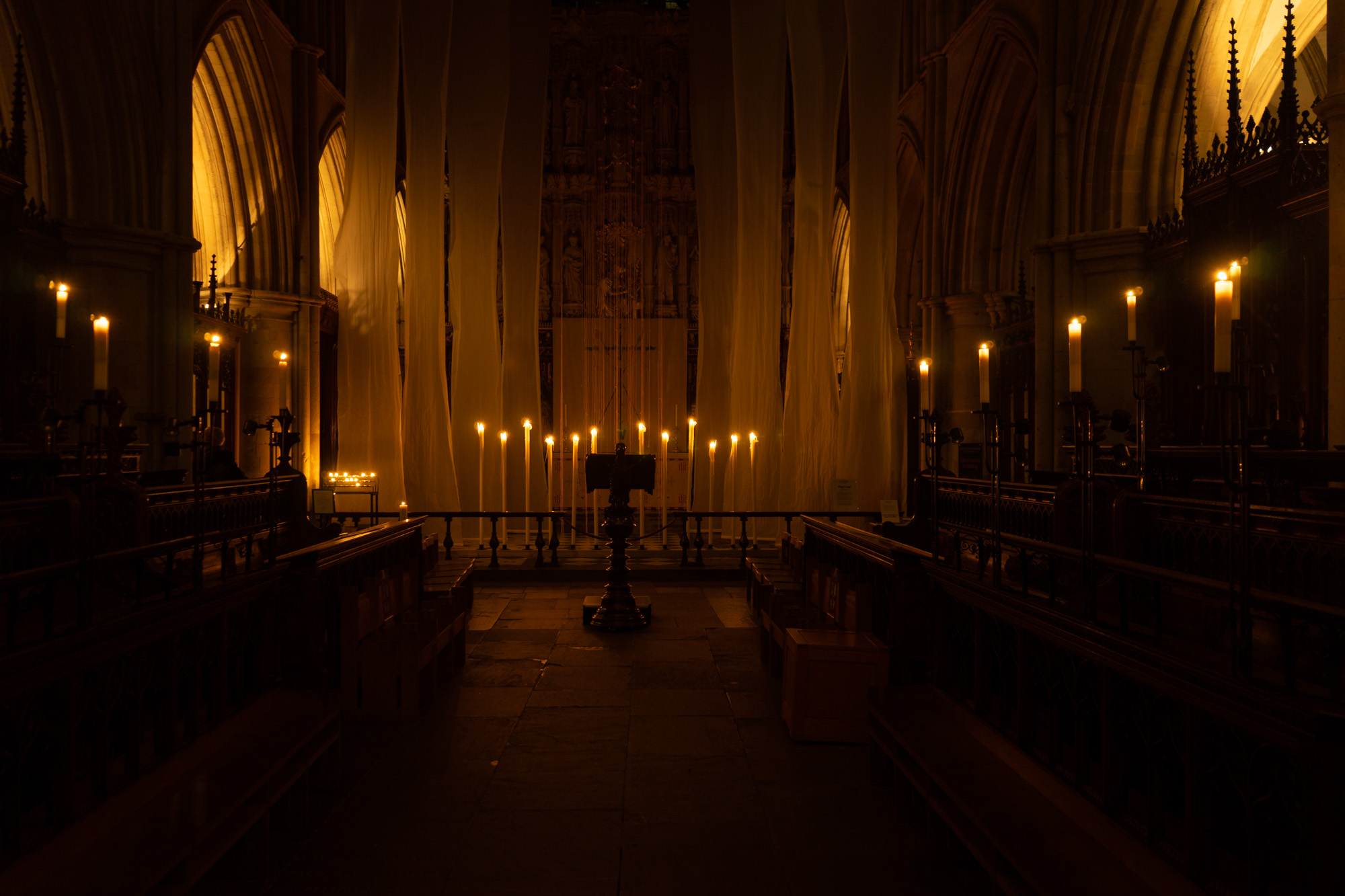 Lent Art Installation 2020 'Pilgrimage' by Michelle Rumney at Southwark Cathedral