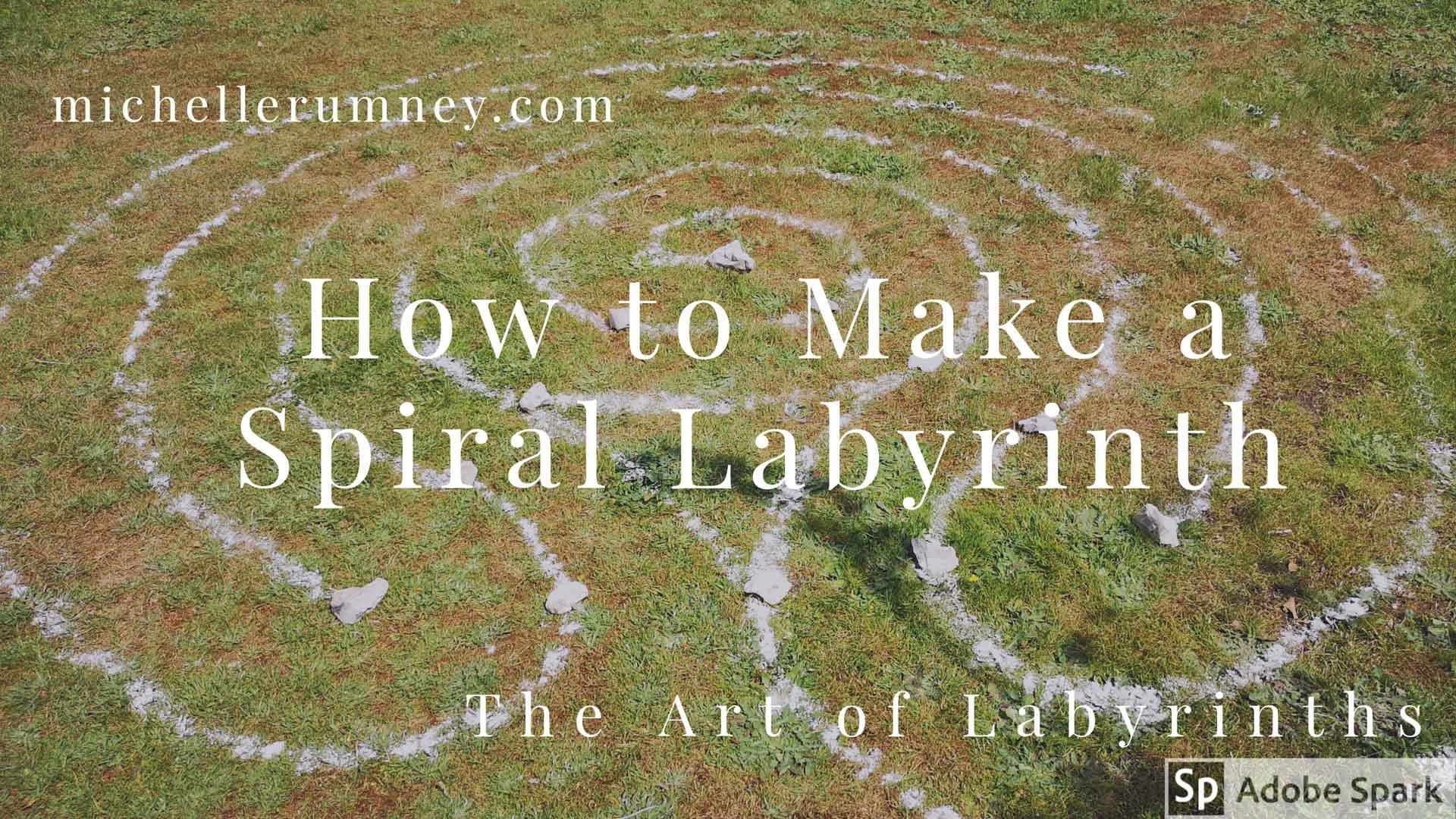 How to Make a Spiral Labyrinth outdoors