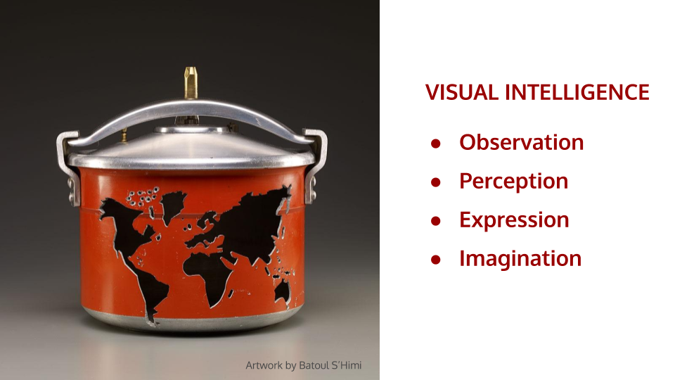Creativity Quest Visual Intelligence slide from workshop