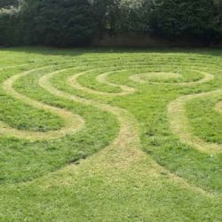 photo of grass Labyrinth at Lyngford Park, Priorswood by Michelle Rumney and Christopher Jelley