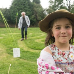 The grass Labyrinth at Lyngford Park, Priorswood by artists Michelle Rumney and Christopher Jelley