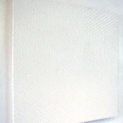 'Apli 2676 & 2677', adhesive labels & acrylic on canvas, 110 x 110cm, 2001
