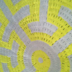 'The Manuscript Maze', (detail), adhesive labels on paper, 148 x 148 cm, 2013