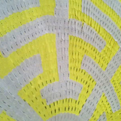 'The Manuscript Maze', (detail), adhesive labels on paper, 148 x 148 cm, 2013