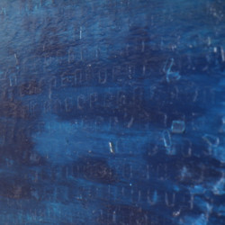 'Babble' (detail), oil, pigment, adhesive labels & acrylic on canvas, 267.5 x 138.5cm, 2002