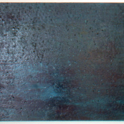 'Babble', oil, pigment, adhesive labels & acrylic on canvas, 267.5 x 138.5cm, 2002
