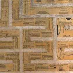'The 7 Habits of Highly Effective People 7 Path Labyrinth' (detail), book pages on paper, 150 x 150 cm, 2013