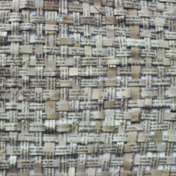 'Kafkas Castle Ch12', woven strips of book pages & varnish, 58 x 56cm, 2001