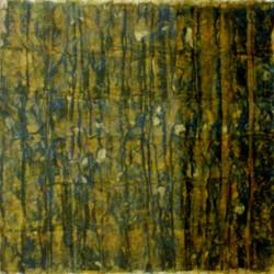 'Mesa II', pastel on paper strips on paper, 35 x 35cm, 1994