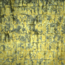 'Soho', ink layers and sunlight on tissue papers on paper, 122 x 122cm, 1994