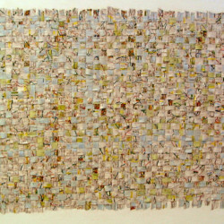 'El Reino Unido por Carretera' (The UK by Road), road atlas on canvas, 190 x 110cm, 2001