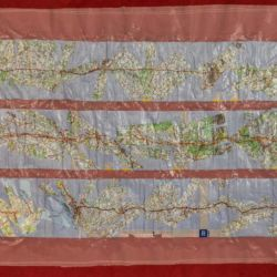 The Road to Chartres - contemporary artwork by Michelle Rumney - collage using 1:200 French maps