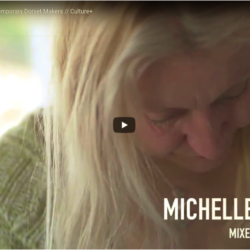Title frame from 1 min film on Michelle Rumney Contemporary Dorset Makers from Culture+ The Arts Development Company